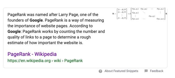 Page Rank image from Google